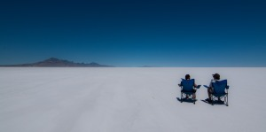 Lunchtime in the Bonneville Salt Flats