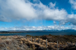 A view of Bariloche off in the distance